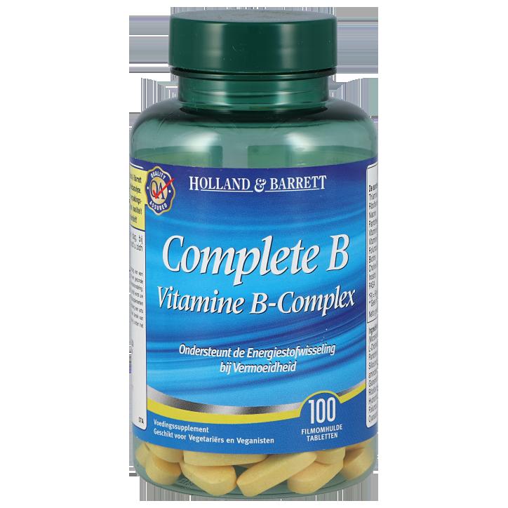 Holland & Barrett Vitamine B Complex (100 Tabletten)