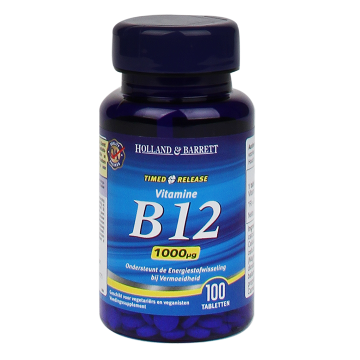 Holland & Barrett Vitamine B12 Timed Release, 1000mcg (100 Tabletten)