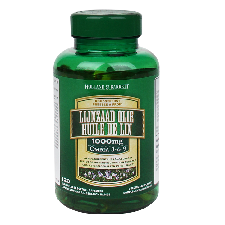 Holland & Barrett huile de lin 120 Gélules 1000 mg