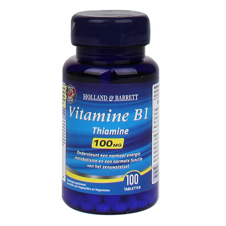 Holland & Barrett Vitamine B1, 100mg (100 Tabletten)