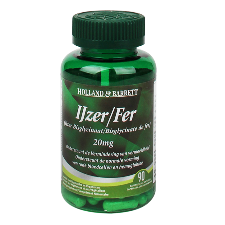 Holland & Barrett IJzer 20mg