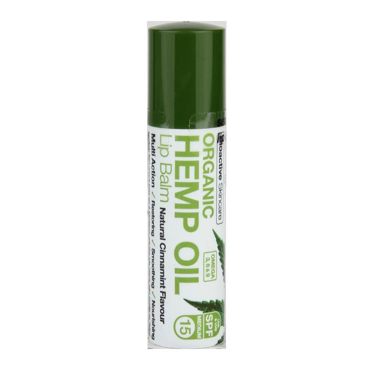 Baume pour les lèvres Dr Organic à l'huile de chanvre