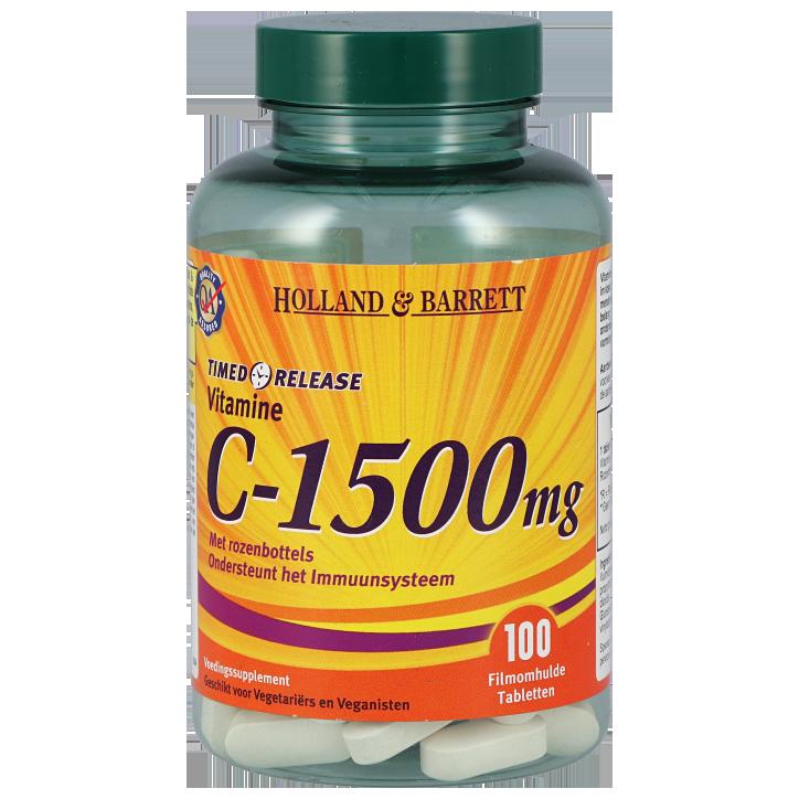 Holland & Barrett Vitamine C Timed Release, 1500mg (100 Tabletten)
