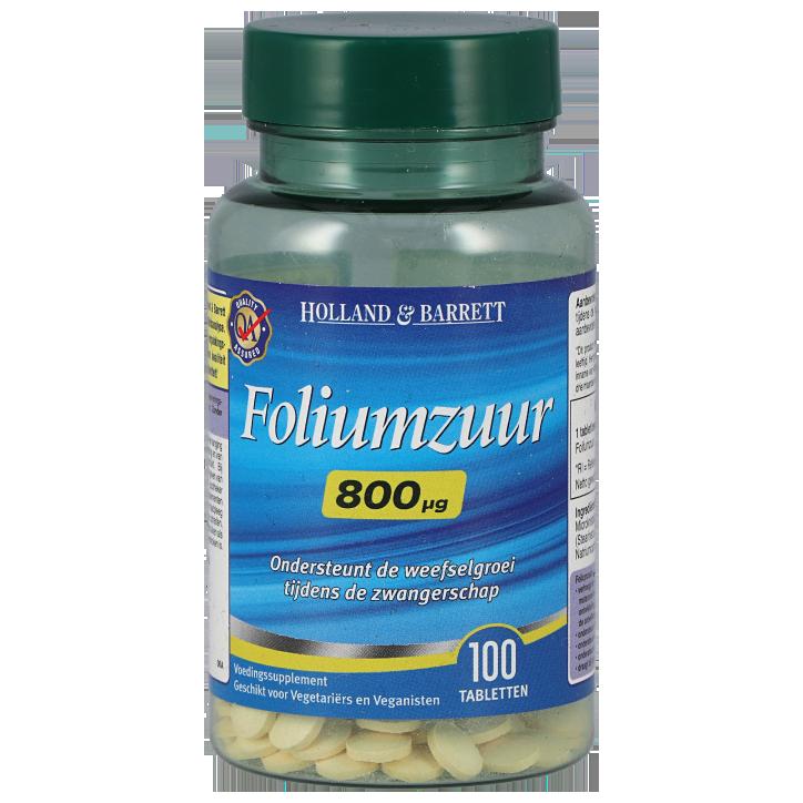 Holland & Barrett Foliumzuur 800mcg