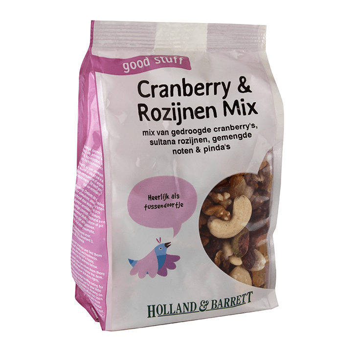 Holland & Barrett Cranberry & Rozijnen Noten Mix