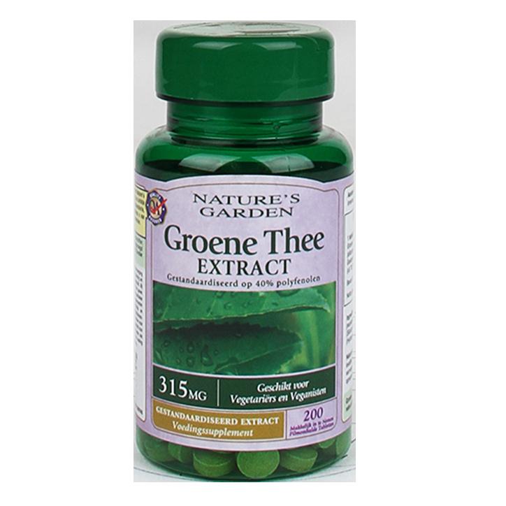 Good n Natural Extrait de thé vert 200 comprimés 315 mg