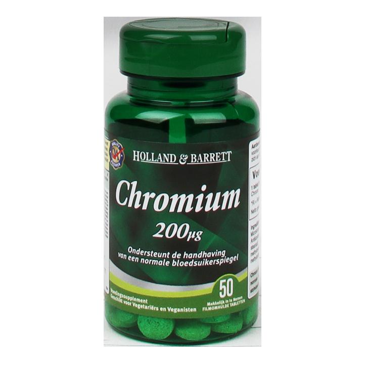 Holland & Barrett Chromium, 200mcg (50 Tabletten)