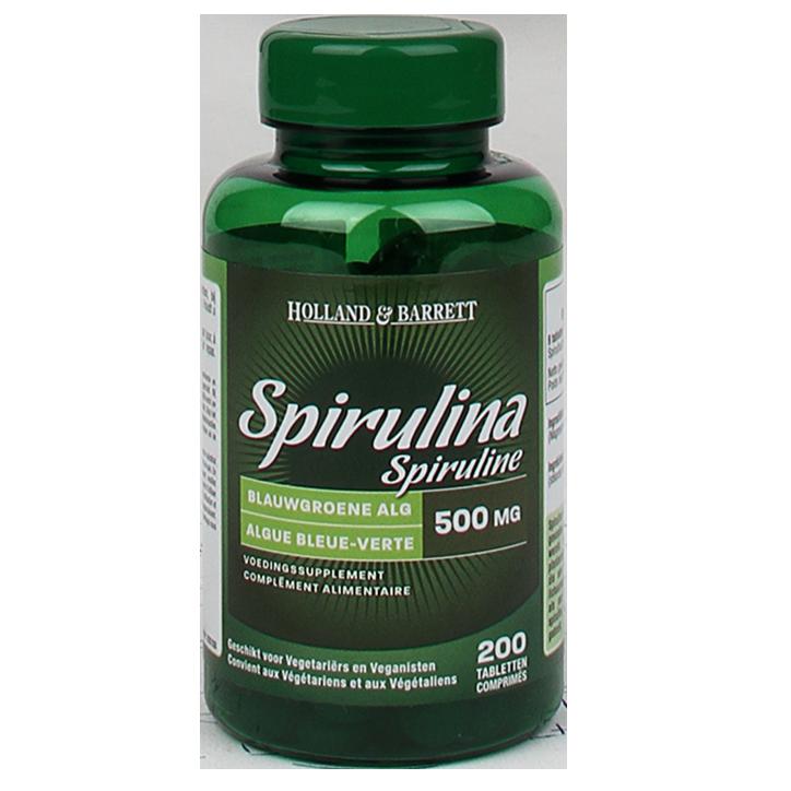 Holland & Barrett Spiruline 500 mg 200 comprimés