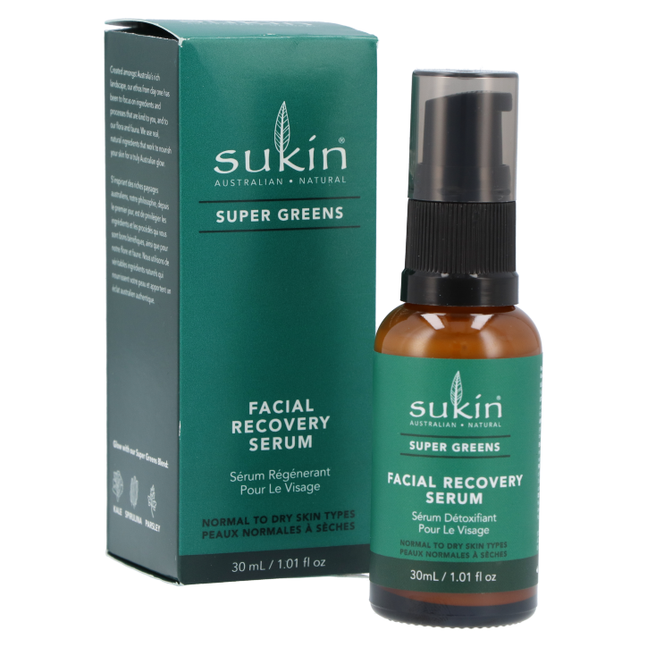 Sukin Super Greens Facial Recovery Serum