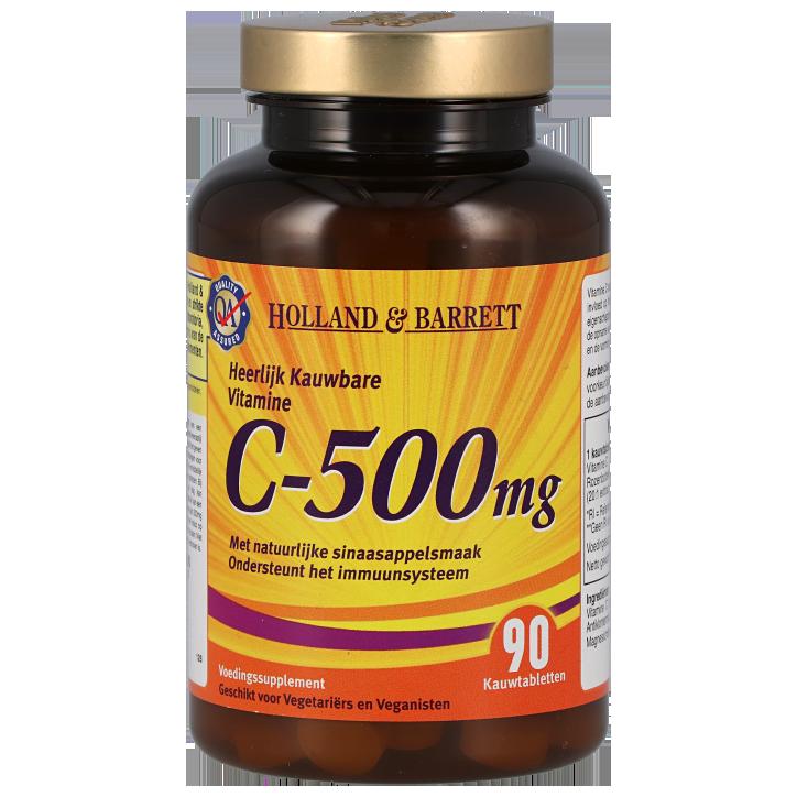Holland & Barrett Vitamine C Kauwtabletten 500mg