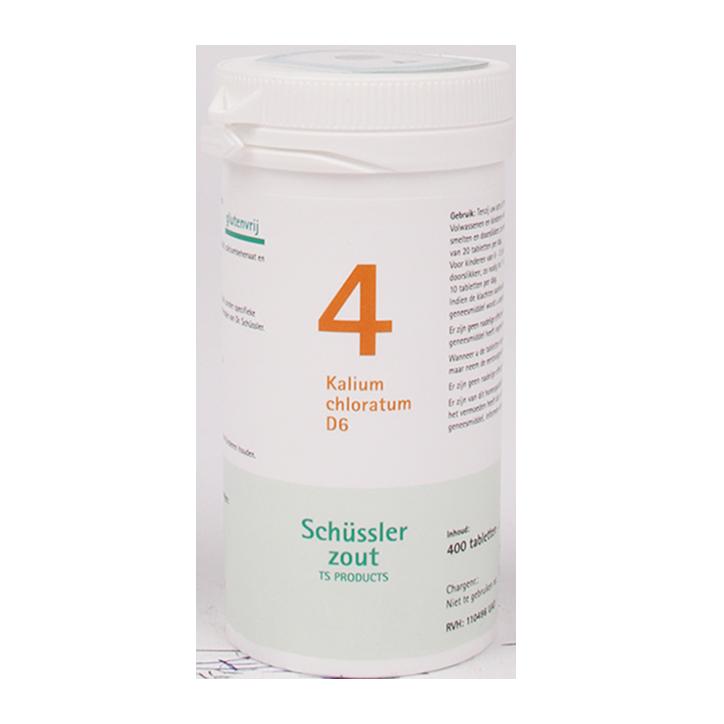 Schüssler Zout 4 Kalium Chloratum D6 (400 Tabletten)