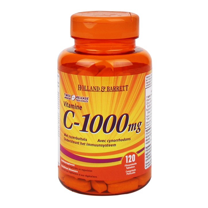 Holland & Barrett Vitamine C Timed Release, 1000mg (120 Tabletten)
