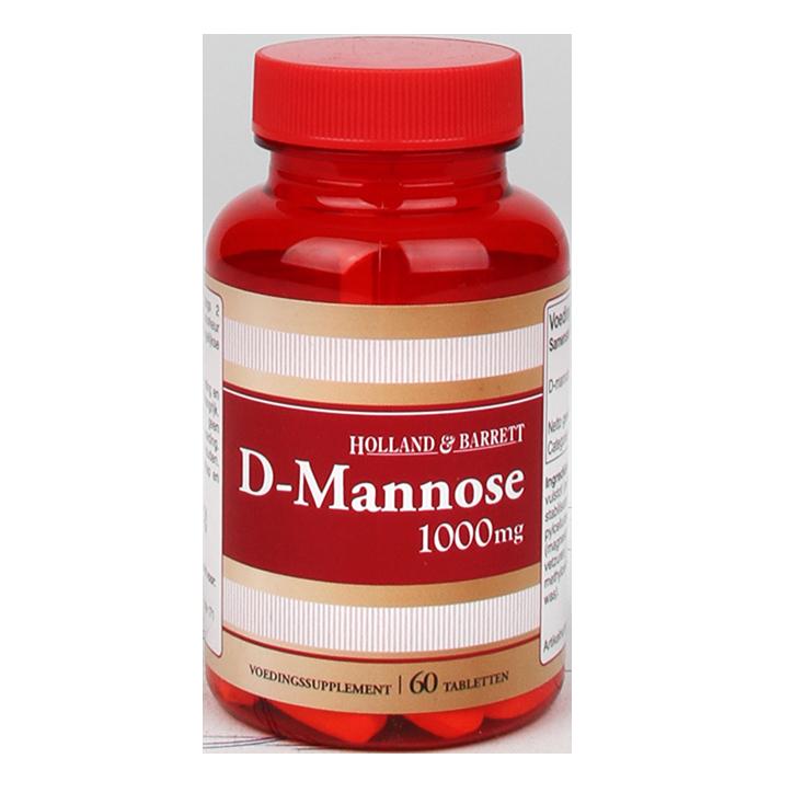 Holland & Barrett D-Mannose, 1000mg (60 Tabletten)