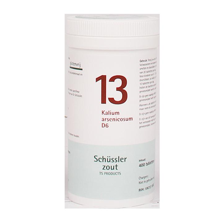 Schüssler Zout 13 Kalium Arsenicosum D6 (400 Tabletten)