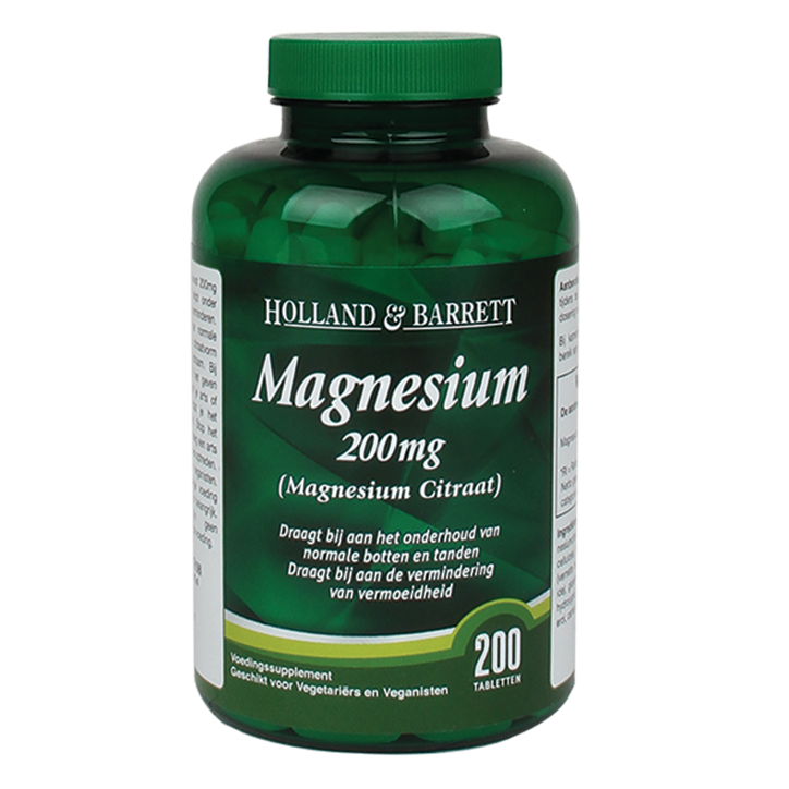 Holland & Barrett Magnesium Citraat, 200mg (200 Tabletten)