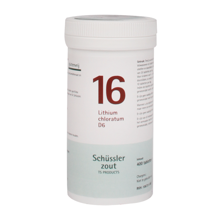 Schüssler Zout 16 Lithium Chloratum D6 (400 Tabletten)