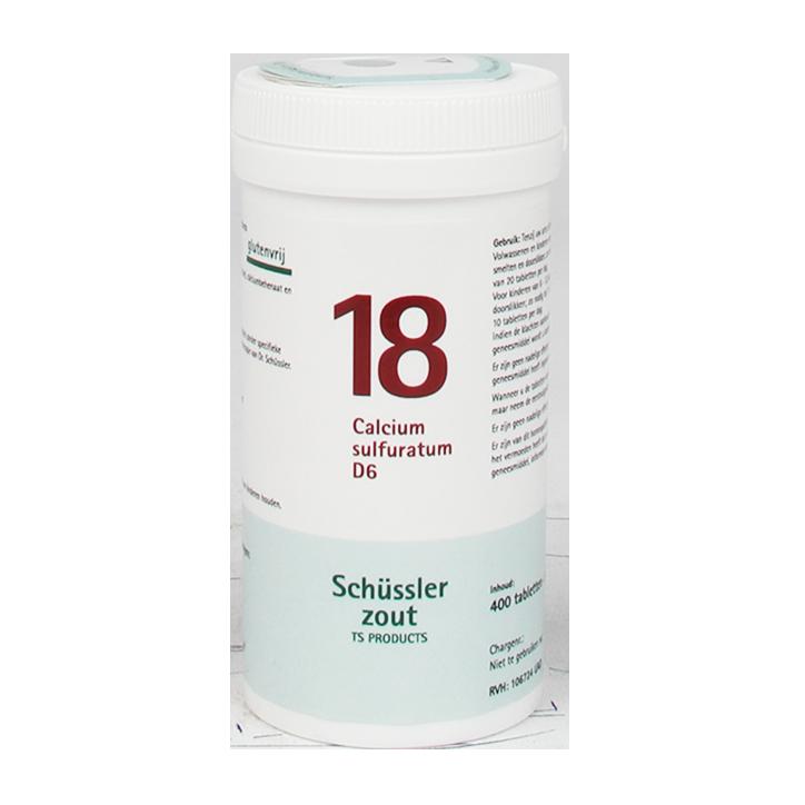 Schüssler Zout 18 Calcium Sulfuratum D6 (400 Tabletten)