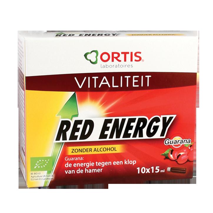 Ortis Red Energy Zonder Alcohol Vloeibaar Bio