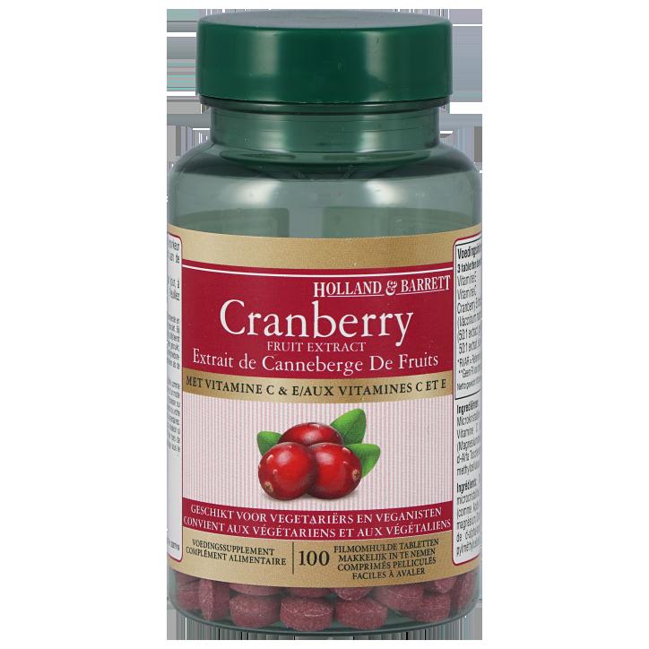 Holland & Barrett Cranberry Met Vitamine C (100 Tabletten)