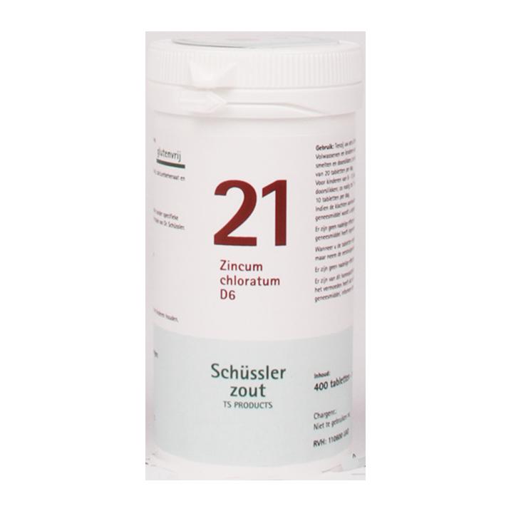 Schüssler 21 Zincum Chloratum D6 (400 Tabletten)
