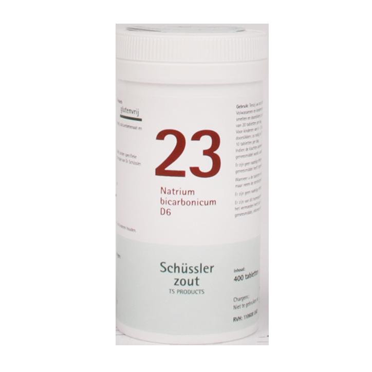 Schüssler Zout 23 Natrium Bicarbonicum D6 (400 Tabletten)
