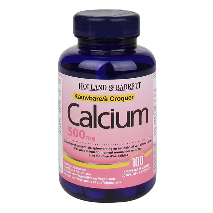 Holland & Barrett Kauwbare Calcium 500mg