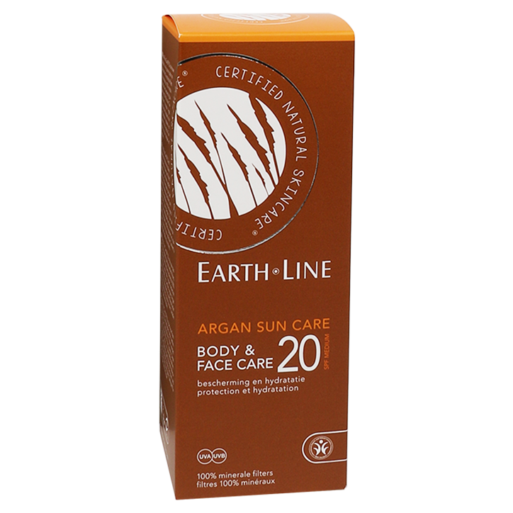 Earth·Line Crème solaire à l'huile d'argan bio SPF 20 150 ml