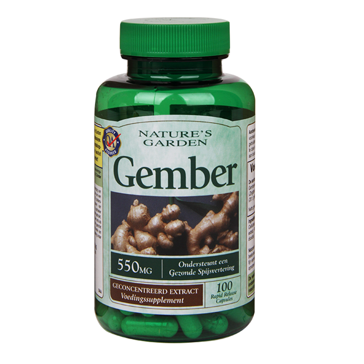 Nature's Garden Gember 550mg 100 Capsules