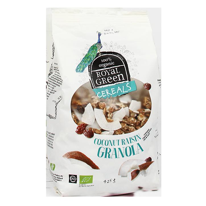 Royal Green Coconut Raisin Granola Bio