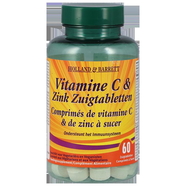 Holland & Barrett Vitamine C & Zink (60 Zuigtabletten)