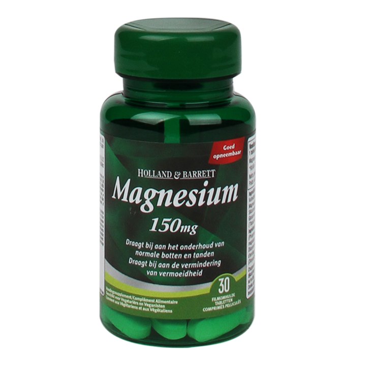 Holland & Barrett Magnesium Bisglycinaat, 150mg (30 Tabletten)