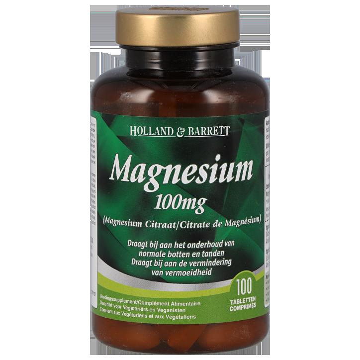 Holland & Barrett Magnesium Citraat, 100mg (100 Tabletten)