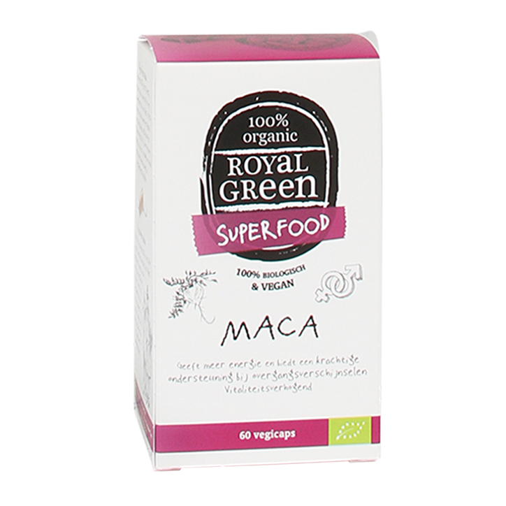 Royal Green Maca Capsules 100% Bio, 500mg (60 Capsules)