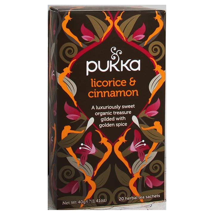 Pukka Licorice En Cinnamon Bio (20 Theezakjes)