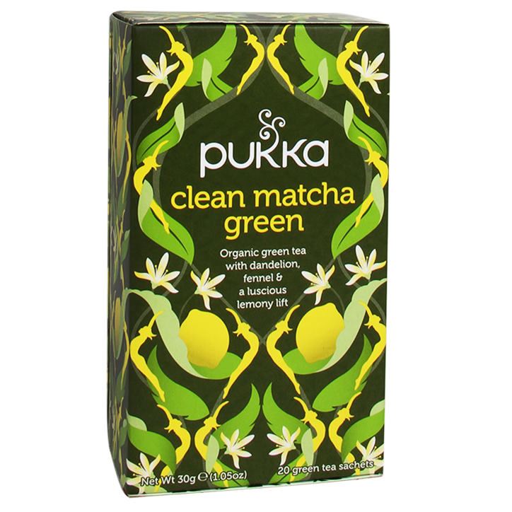 Pukka Clean Matcha Green Bio (20 Theezakjes)