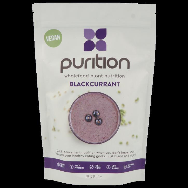 Purition Vegan Plant Proteine Zwarte Bes 500g