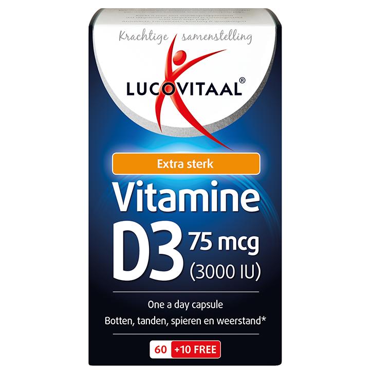 Lucovitaal Vitamine D3, 75mcg (70 Capsules)