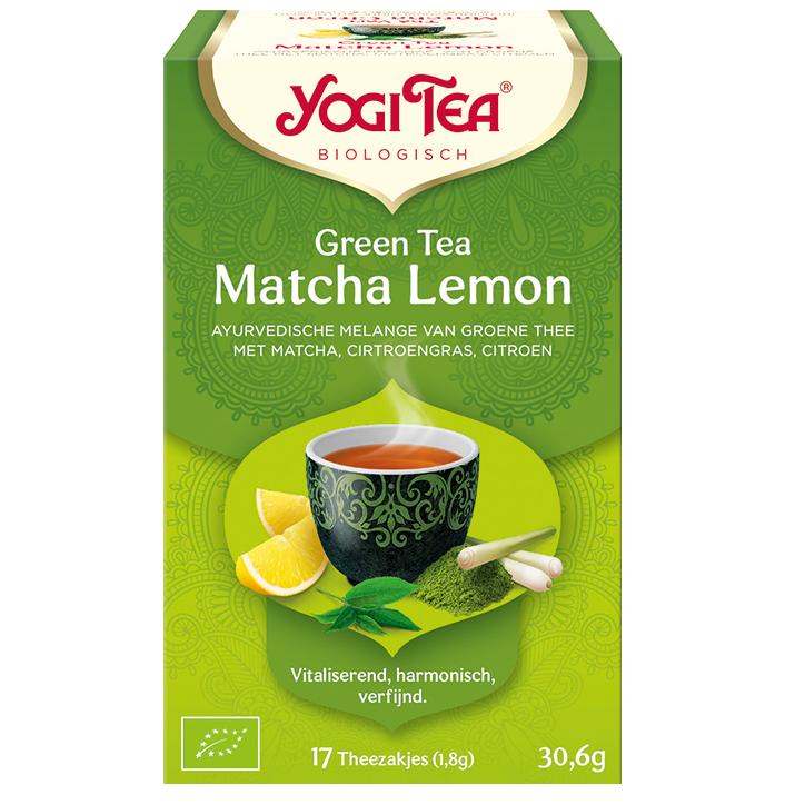 Yogi Tea Green Tea Matcha Lemon Bio