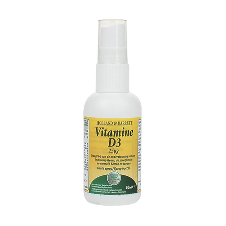 Holland & Barrett Vitamine D3 Spray, 25mcg (50ml)