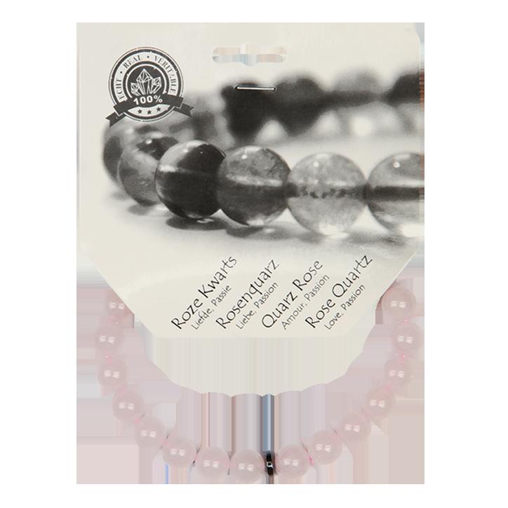 Bracelet de perles Steengoed Quartz rose