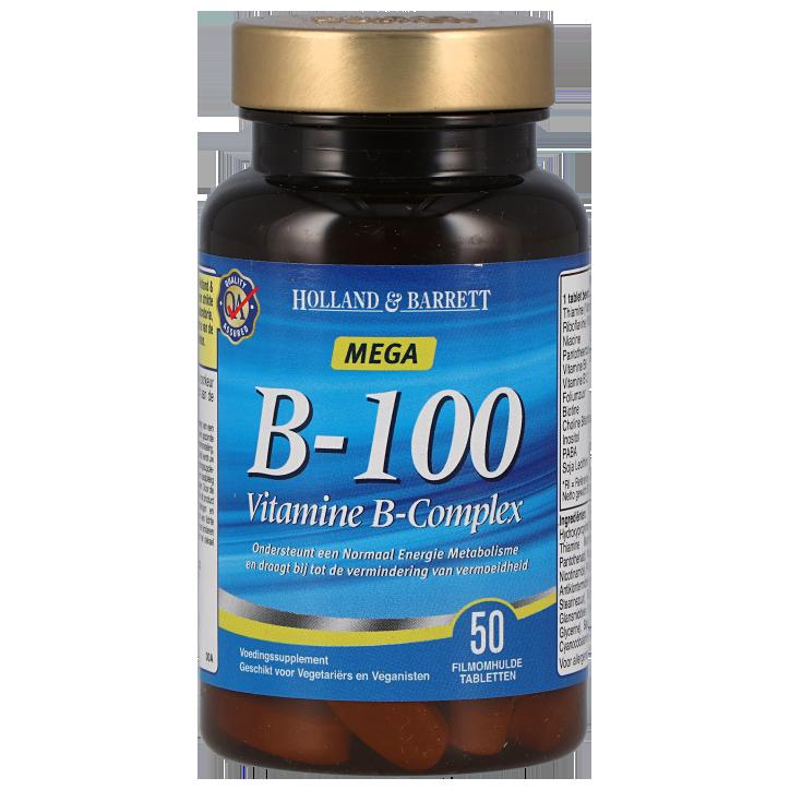 Holland & Barrett Vitamine B100 Complex (50 Tabletten)