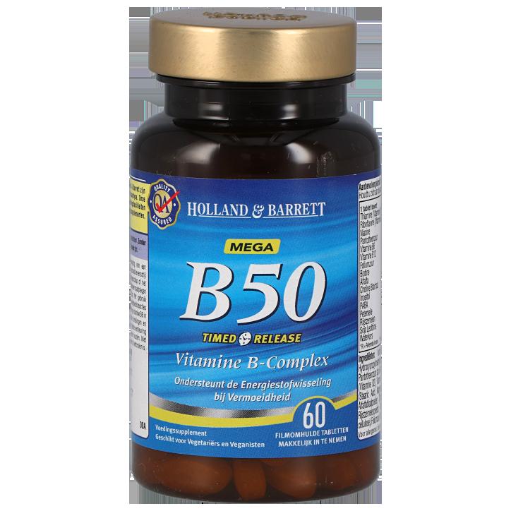 Holland & Barrett Vitamine B50 Timed Release (60 Tabletten)