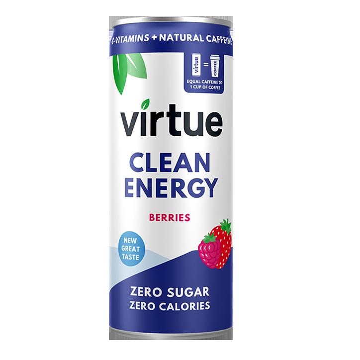 Virtue Sparkling Energy Water Berries 250ml