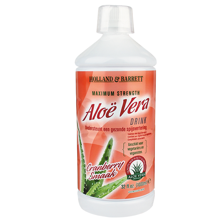 Holland & Barrett Aloe Vera Drink Cranberry 1000ml