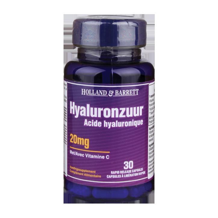 Holland & Barrett Acide hyaluronique à la vitamine C 30 Gélules 20 mg
