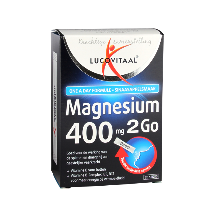 Lucovitaal Magnesium 2Go, 400mg (20 Sticks)