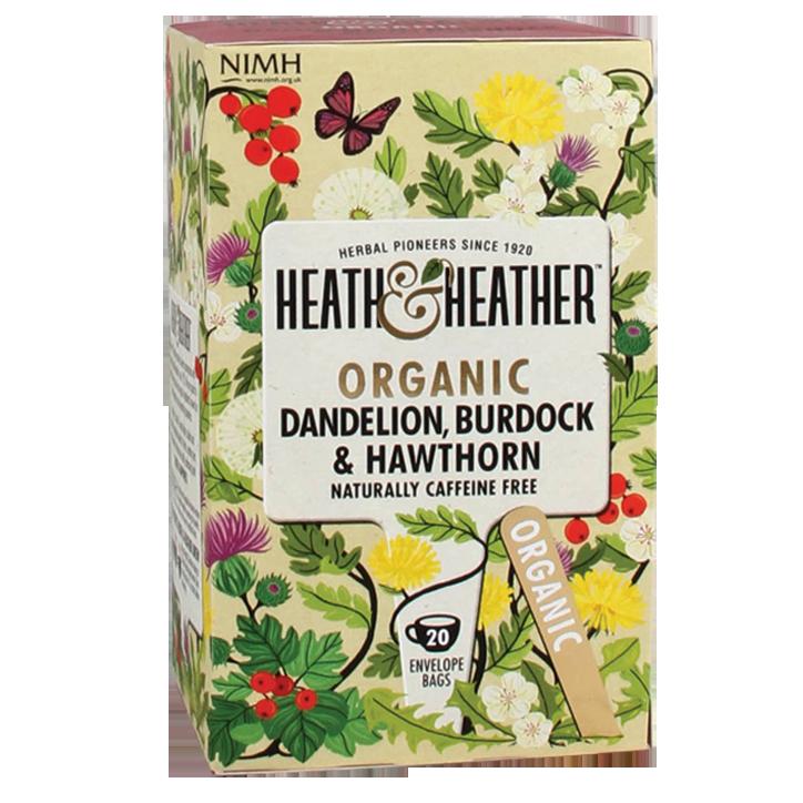 Heath & Heather Dandelion - Burdock & Hawthorn Tea Bio (20 Theezakjes)