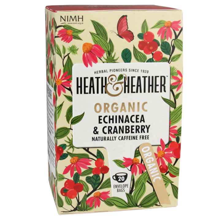 Heath & Heather Echinacea & Cranberry Tea Bio (20 Theezakjes)