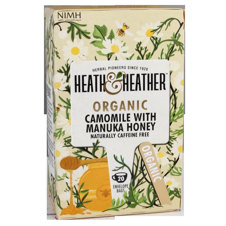 Heath & Heather Camomile With Manuka Honey Tea Bio (20 Theezakjes)
