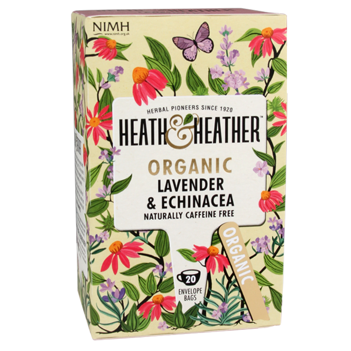 Heath & Heather Lavender & Echinacea Tea Bio (20 Theezakjes)